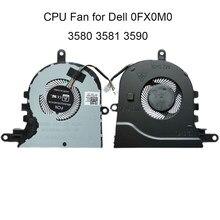Novos fãs de computador fx0m0 para dell inspiron 3580 3581 latitude 3590 e3590 l3590 cpu cooler radiador CN-0FX0M0 dc28000k9f0
