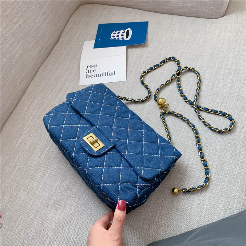 Brand Original Design 2020 New Rhombic Chain Shoulder Messenger Bag Fashion Simple Square Bag|Top-Handle Bags| - AliExpress