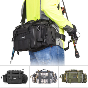 Image 1 - Fishing Bag for Fishing Case Outdoor Sports Waist Pack Fishing Lures Gear Storage Bag Backpack Single Shoulder Cross Body Bags