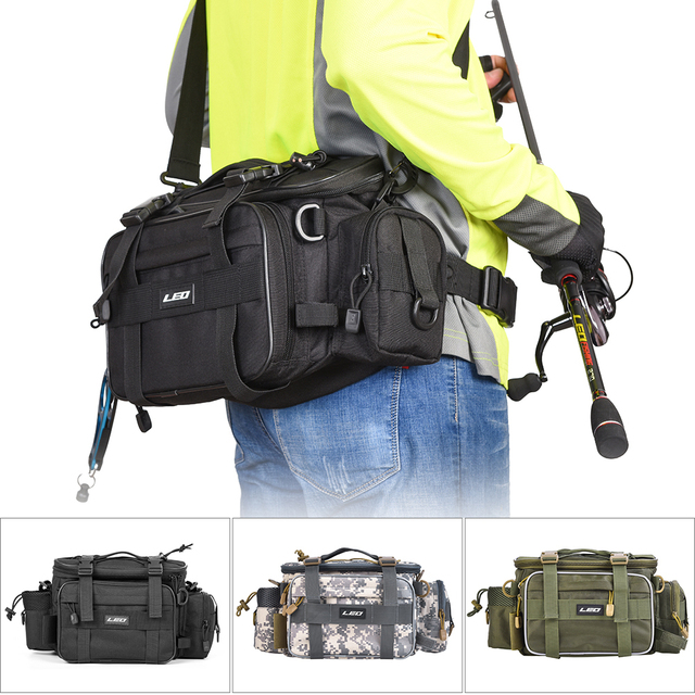 Fishing Bag for Fishing Case Outdoor Sports Waist Pack Fishing Lures Gear Storage Bag Backpack Single Shoulder Cross Body Bags
