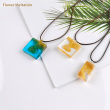 Bunga Undangan 1PC UV Transparan Diy Resin Liontin Pulau Kalung Kerajinan Perhiasan(China)