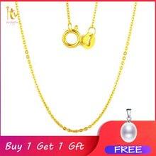 NYMPH cadena de oro amarillo y blanco de 18K para mujer, 18 pulgadas, au750, precio de coste, colgante, regalo de fiesta para mujer [G1002]