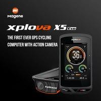Magene Xplova X5 Evo WirelessGPS Bike Computer Waterproof Bluetooth 4.0ANT+Bike Cycling Speedometer Cadence Support Heart Rate
