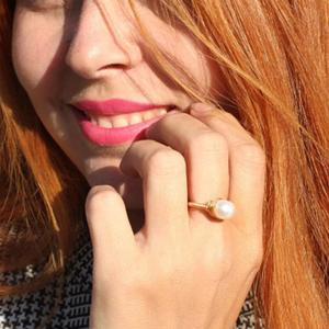 Image 3 - Pearl Ring Natural freshwater pearl ring For women Handmade Creative Gold Color rings Wedding Party luxury pearl rings