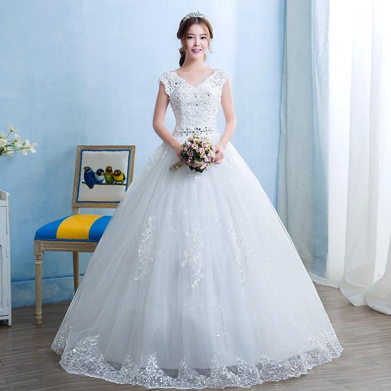 2019 Sale Half Tank Vestido Branco Gengli Wedding Dress 2020 New Korean Double Shoulder Bride's One Neck Large Autumn Female