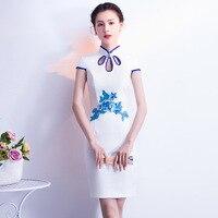 Sheng Coco Short Party Gown White Evening Cheongsam Dress Silk Banquet Cheongsam Short Dress Woman Traditional Night Gown Qipao