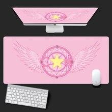 Anime Card captor Sakura denizci ay Unicorn aksiyon figürü su geçirmez masa paspaslar bilgisayar oyun dizüstü klavye matı büyük Mouse Pad