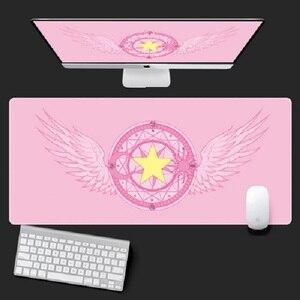 Image 1 - Anime cartão captor sakura sailor moon unicórnio figura de ação à prova dwaterproof água tapetes de mesa jogo computador portátil teclado tapete grande mouse
