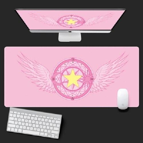 Anime cartão captor sakura sailor moon unicórnio figura de ação à prova dwaterproof água tapetes de mesa jogo computador portátil teclado tapete grande mouse