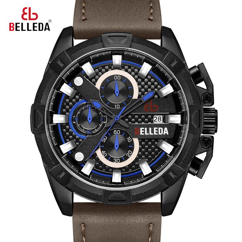 Parnis 39 мм черный циферблат кварцевые мужские часы водонепроницаемый сапфировый Кристалл хронограф светящийся мужские часы zegarek meski мужские ... - 2