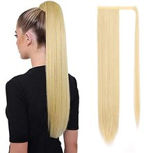 Wigs Women Hair-Extension Clip Ponytail Blonde Synthetic-Wrap Heat-Resistant LISIHAIR
