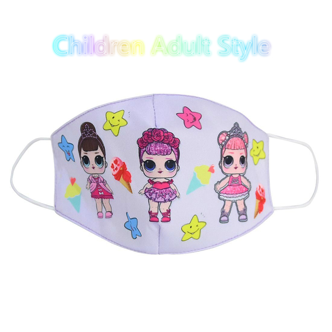 LOL Surprise Dolls Cartoon Cottons Masks Anti Dust Reusable Breathable Face Mouth Protection LOL Dolls Masks Gifts For Kid Girls