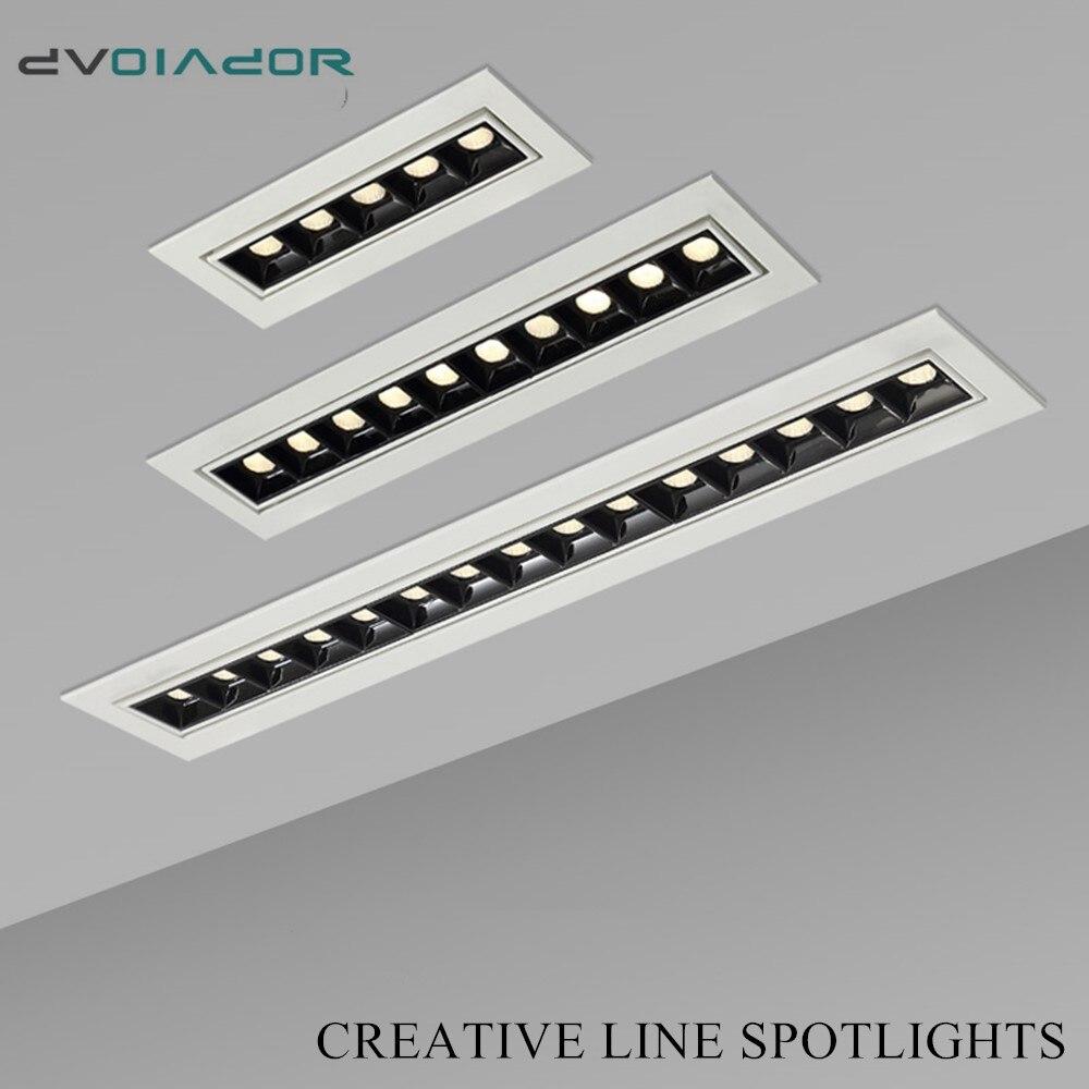 Embedded Creative LED Downlight 20W 10W 4W 2W Line Recessed Lamp 110V 220V Led Bulb Bedroom Kitchen Indoor LED Spot Lighting