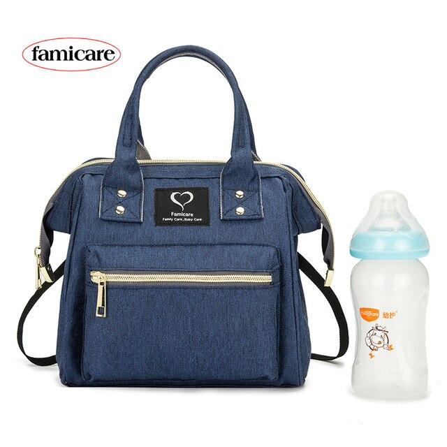 Mini bolsa de pañales para madres, bolsos de bebé para madres, familia, bandolera con correa de hombro extraíble, mochila de maternidad para lactancia