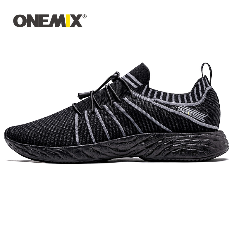 ONEMIX Walking Sports Shoes For Men Summer Slip On Ultralight Breathable Cotton Athletic Trainer Women Trekking Shoes Sneakers