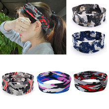 1PC New Camo Rock Casual Camouflage Headband Yoga Gym Women Men Elasticity Stretch Sport Sweat Sweatband Hair Accessories(China)