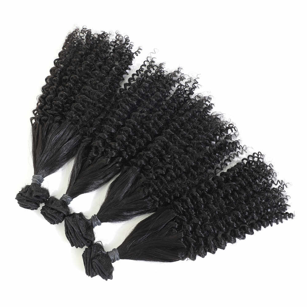 Bouncy Curly 8 Bundles 240g 16inches Natural color All In One Funmi Hair Extensions Soft Smooth Synthetic Hair Weave