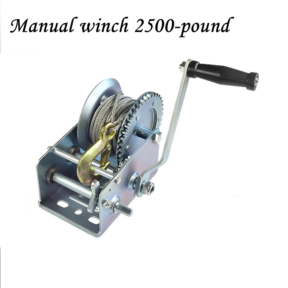 Manual Winch 2500-pound Winder With Ribbon Winch