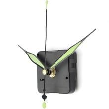 Светящиеся бесшумные кварцевые настенные часы механизм шпинделя зеленые кварцевые настенные часы часть DIY ремонтный комплект