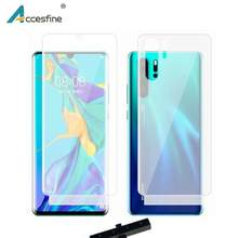 9D Front&Back Hydrogel Screen Protector Film For Huawei P30 P20 Pro Lite Mate 20 Pro Mate 20 X Full Cover Soft Protective Gel(China)