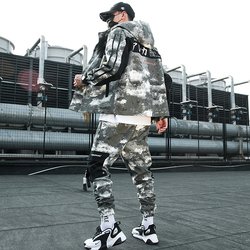 Camouflage Militare Tuta Da Uomo Addensare Con Cappuccio Allentato Giacca A Maniche Lunghe Uomini casual Hip Hop Mens di Sport Set Autunno B60