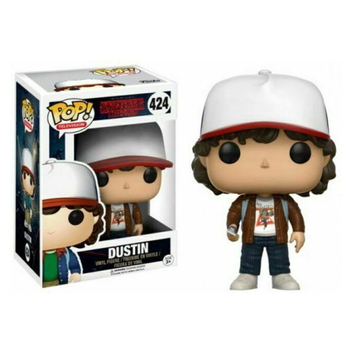 Funko Pop  Stranger Things Season 1 DUSTIN #424 Vinyl Action Figure Dolls Toys 1