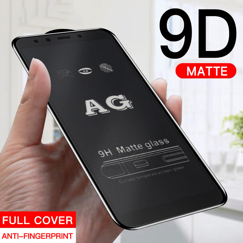 9D Matte Tempered <font><b>Glass</b></font> for <font><b>samsung</b></font> galaxy A9 A6 A8 Plus 2018 Frosted screen protector on galax A7 A750 protective Film <font><b>a</b></font> <font><b>7</b></font> 8 9 image