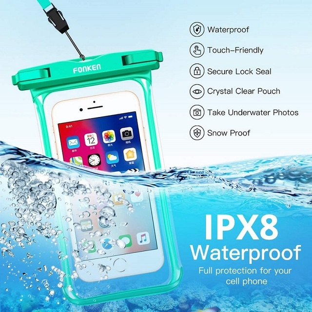 FONKEN Waterproof Phone Case For Iphone Samsung Xiaomi Swimming Dry Bag Underwater Case Water Proof Bag Mobile Phone Pouch Cover 3