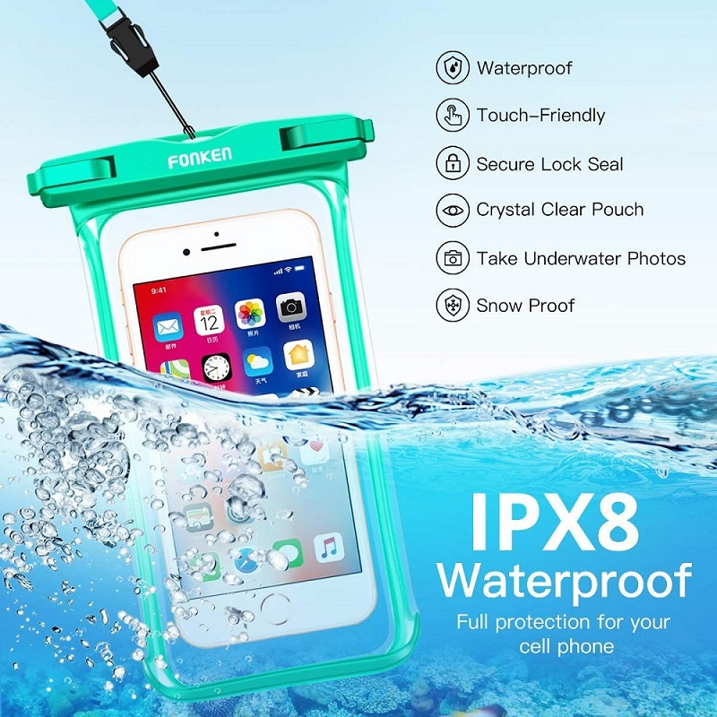 FONKEN Waterproof Phone Case For Iphone Samsung Xiaomi Swimming Dry Bag Underwater Case Water Proof Bag Mobile Phone Pouch Cover