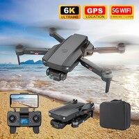 Eachine-Dron S2 5G con WIFI 4K, cuadricóptero Profesional de control remoto, Mini cámara HD 6K con Motor sin escobillas, GPS, FPV, plegable, Juguetes