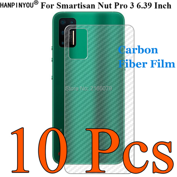 Перейти на Алиэкспресс и купить 10 шт./партия для Smartisan Nut Pro 3 Pro3 3D ультратонкая задняя пленка из углеродного волокна наклейка с защитой экрана (не закаленное стекло)