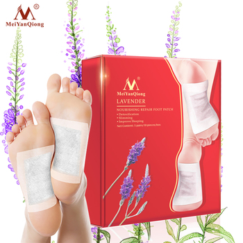 1Box Lavender Detox Foot Patches Pads Nourishing Repair Foot Patch Improve Sleep Quality Slimming Patch Loss Weight Care