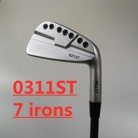 Golf irons 0311ST silvery 1 piece Golf clubs 7 Accessorie Men and Women 7 Irons Bar Men's No. 7 Steel Shaft Carbon