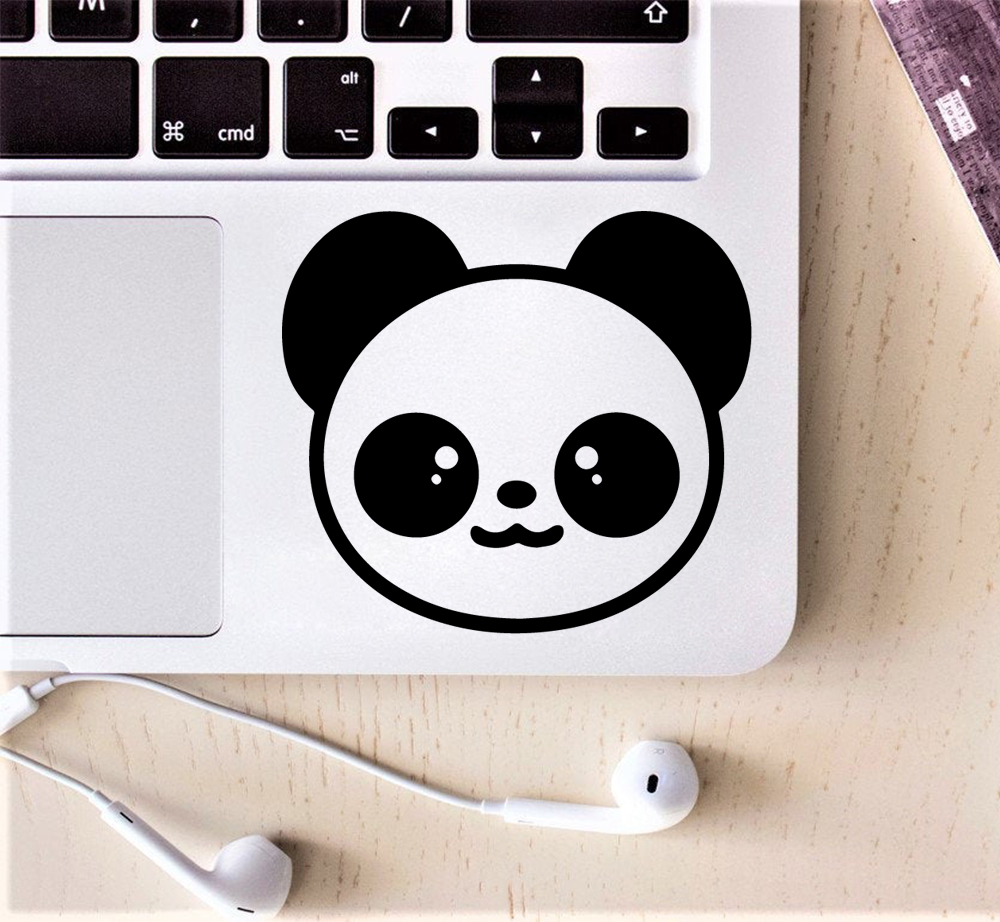 Cute Panda Laptop Vinyl Decal Partial Sticker For Removable Stickers Headphone Laptop Cover Sticker For Xiaomi/Hp/Dell/Asus