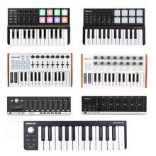 WORLDE Panda MIDI Keyboard Controller MINI 25-Key Ultra-Portable USB MIDI Keyboard Controller 8 Colorful Backlit Trigger Pads