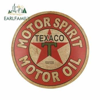 EARLFAMILY 13cm x 12,9 cm para Texaco Motor aceite a prueba de arañazos pegatinas de coche motocicleta pegatina de reparación para SUV JDM VAN Decoración