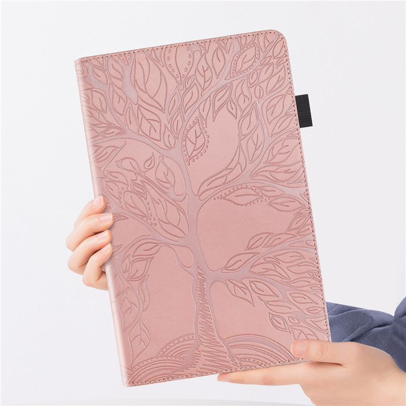 Wallet Pro Coque for Stand-Tablet iPad Emboss-Tree Flip-Case Funda 11