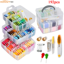 192 Pack Embroidery Floss Set with 150 Colors Cross Stitch F