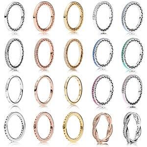 925 Стерлинговое Серебро сердца кольца сердце с разноцветной эмалью с украшением в виде кристаллов для женщин; Свадебная вечеринка, модное ю...