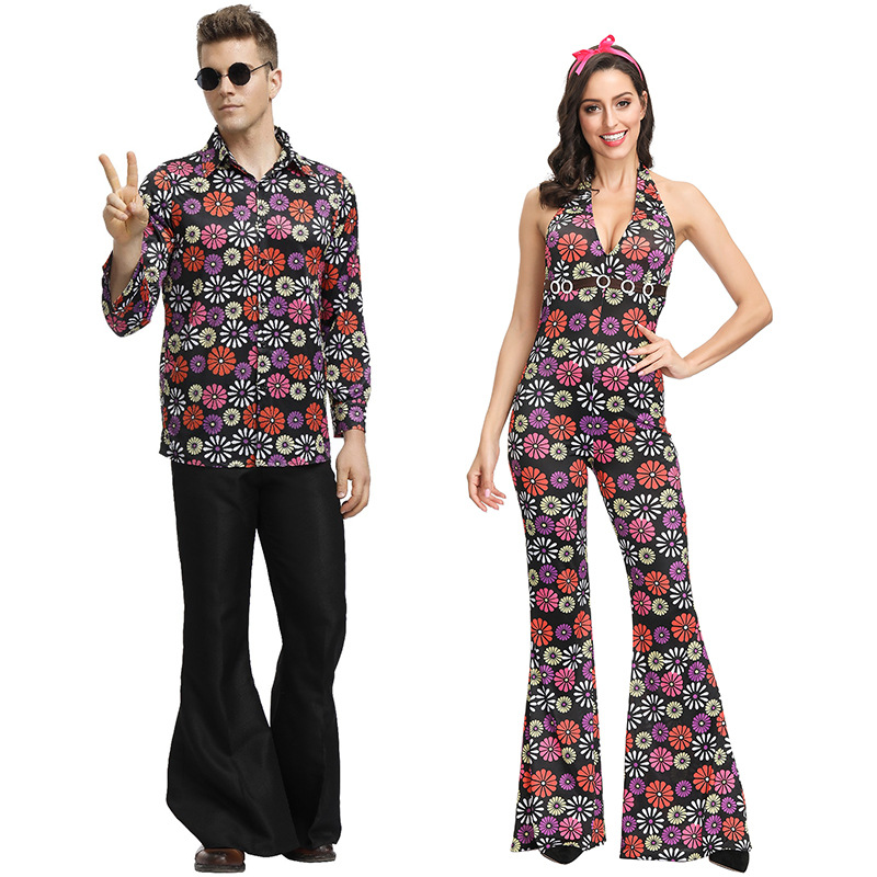 Hippie Pants Adult Womens Costume Accessory Size M//L NEW 60S Bell Bottoms