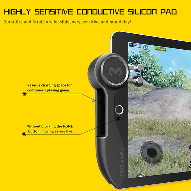 Mobile PUBG Game Controller For Ipad Tablet Six Finger Game Joystick - Handle Aim Button L1R1 Shooter Trigger 3