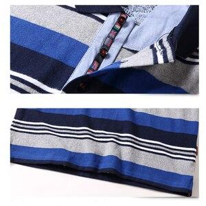 Image 4 - 새로운 남성 폴로 셔츠 고품질 스트라이프 폴로 셔츠 패션 캐주얼 긴 소매 폴로 셔츠 브랜드 의류 가을 겨울 5XL 크기