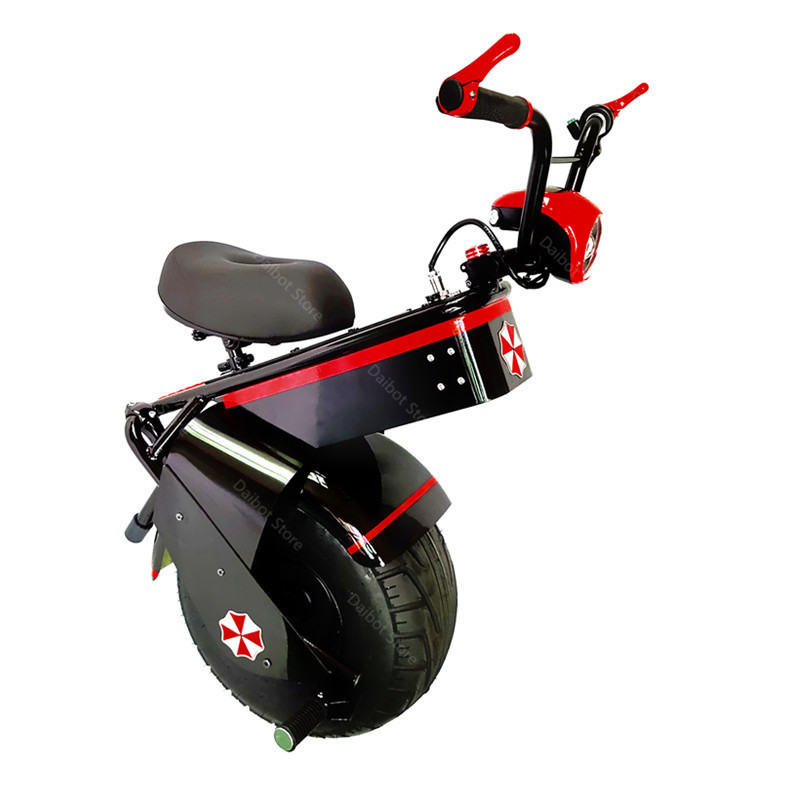 Electric Scooter 1500W One Wheel Self-balancing Scooter Motorcycle Seat 110KM 60V Electric Monowheel Scooter 18 Inch Wide Wheel  (27)