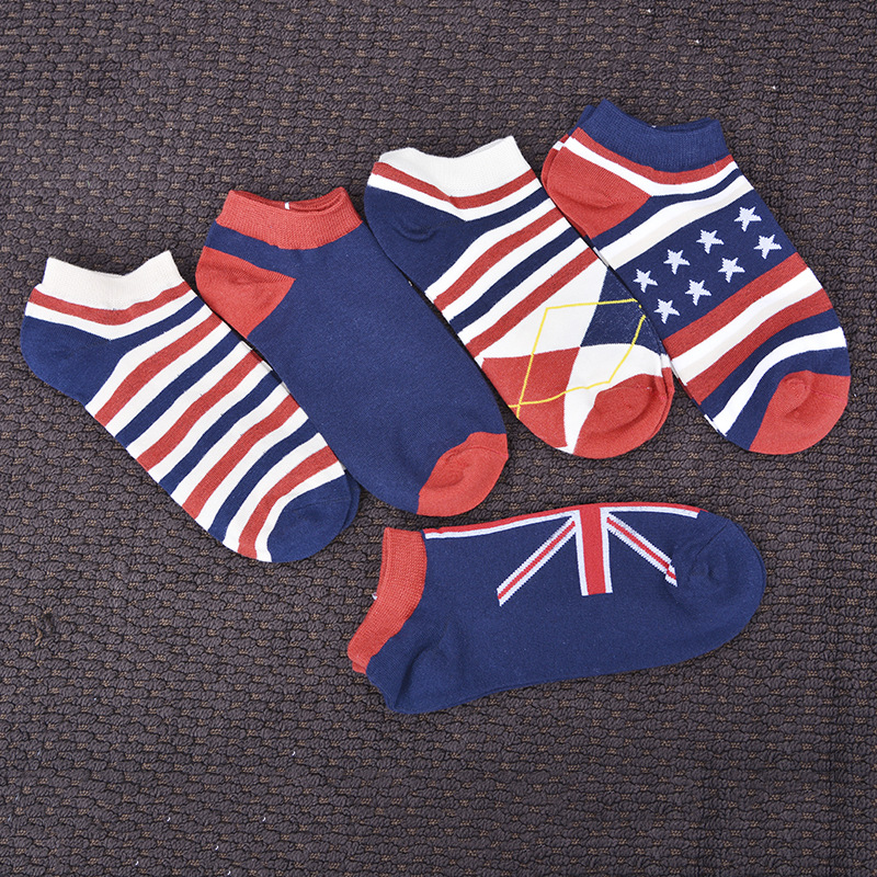 Spring And Summer Men's Boat Socks Invisible Cotton Socks England College Style Colorful Socks 2020 New Fashion