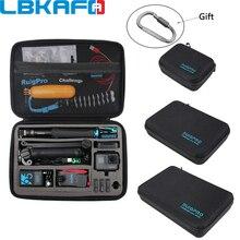 GoPro 영웅을위한 휴대용 운반 케이스 보호 가방 8 7 6 5 4 SJCAM SJ9 YI DJI OSMO 액션 카메라 액세서리 Anti shock Storage Box