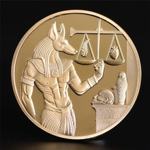 Protector Collection Coins Commemorative-Coins Anubis Egypt God Gold-Plated Gift Death