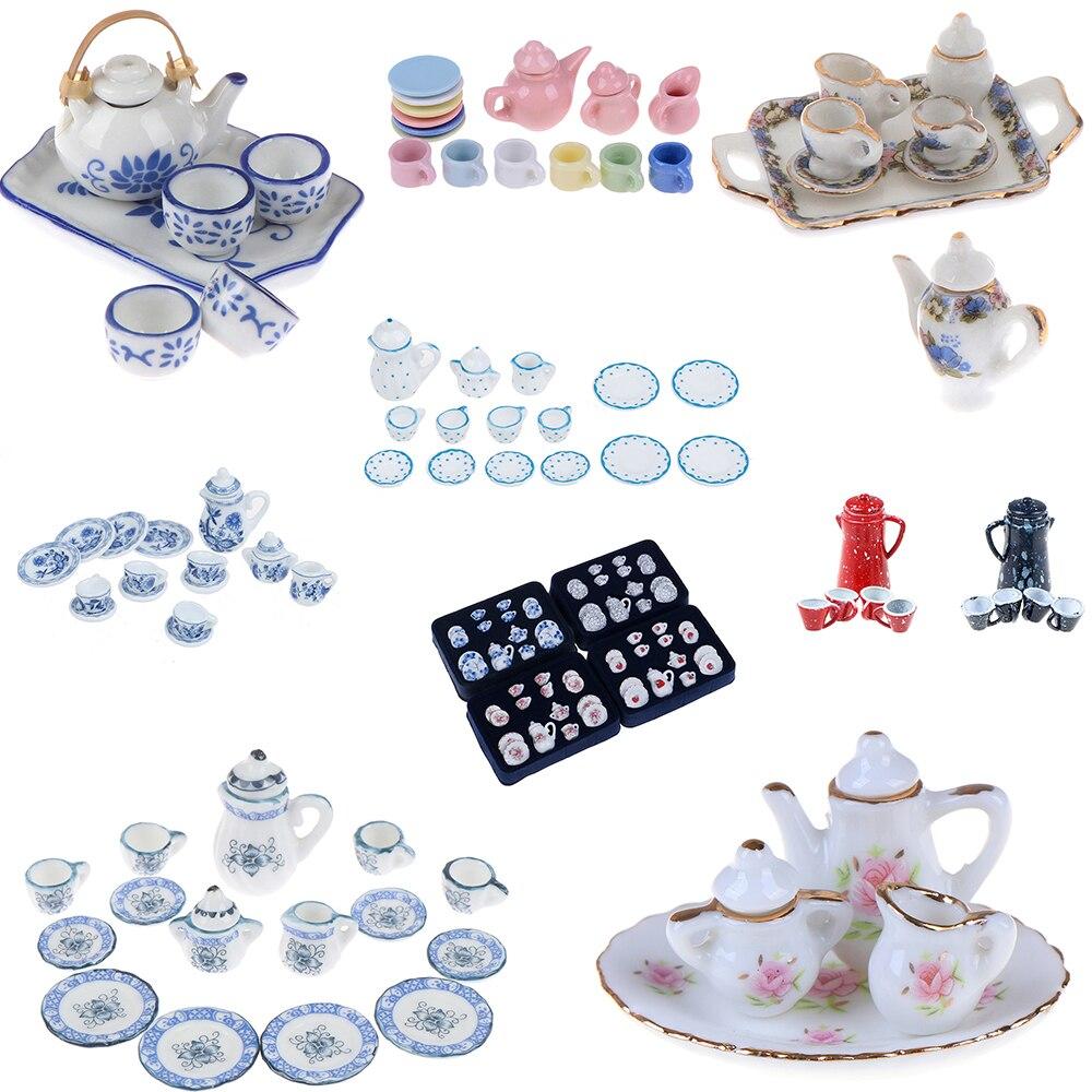 15/8/9/4/2Pcs 1:12 Dolls House Miniature Mugs Cups Pot Set 1/12 Furniture Toys Coffee Tea Cups Dollhouse Accessory