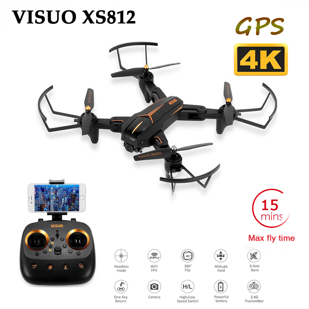 Rc-Drone Helicopter Camera XS812 SG900 GPS Altitude Hold WIFI VISUO 4K with 5MP HD 5G