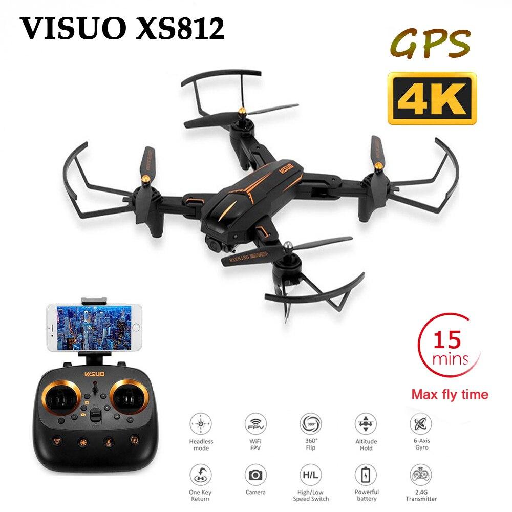 VISUO XS812 4K GPS RC Drone mit 5MP HD Kamera 5G WIFI FPV Höhe Halten One Key Rückkehr quadcopter Hubschrauber VS SG900 S20 Eders