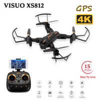 VISUO XS812 4K GPS RC Drone עם 5MP HD מצלמה 5G WIFI FPV אחיזת גובה אחד מפתח להחזיר quadcopter מסוק VS SG900 S20 Dron